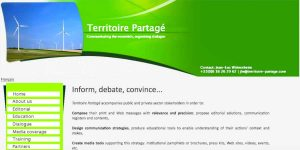 Territoire Partagé - Creation and translation of website for a communications experts network