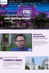"Philips Lighting, ""Pioneers of Light"" : Paul Gunawan, le centre commercial PIK Avenue, Jakarta"