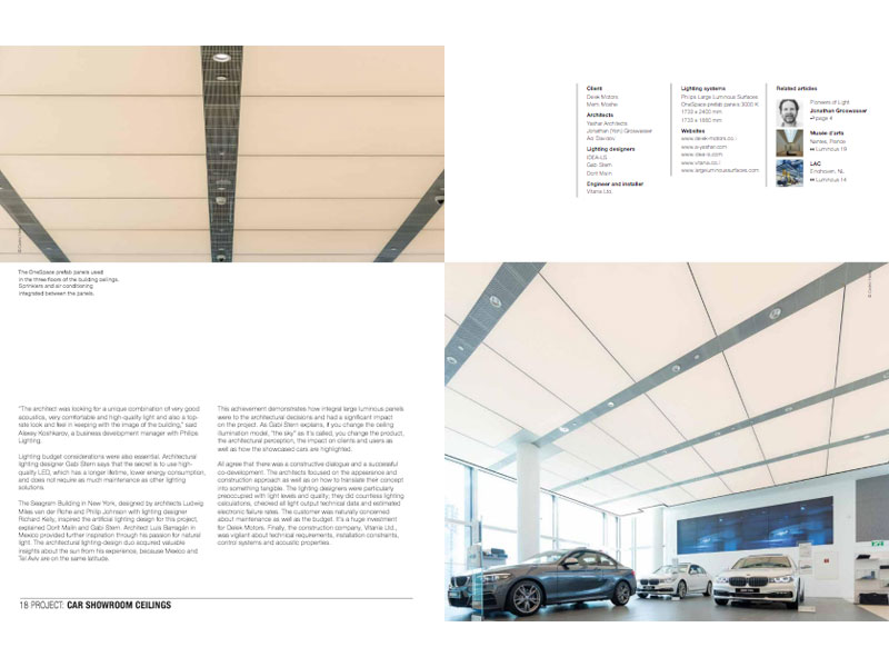 Reportage pour «Luminous» magazine de Philips Lighting : BMW Mini showroom