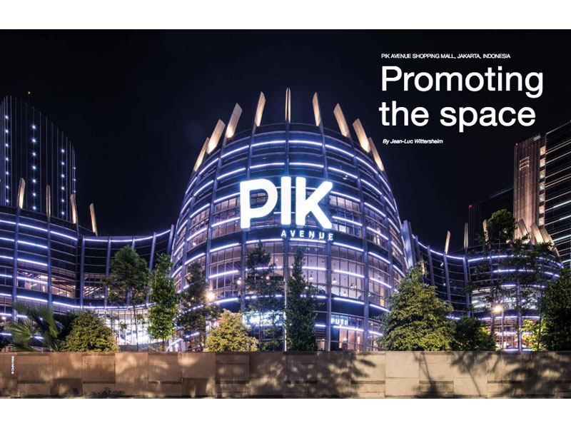«Luminous» magazine de Philips Lighting : reportage sur le centre commercial PIK Avenue de Jakarta - coordination et traduction