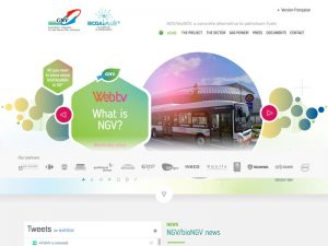 English version of Natural Gas for Vehicles website, an ambitious project and growing partnership.