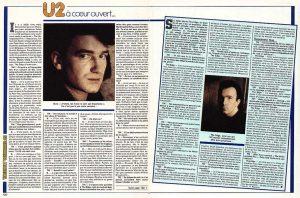 """En tournée avec U2 au moment de la sortie de l'album """"The Unforgettable Fire"""" : reportage et interviews réalisés pendant 10 jours en Australie et diffusés par Sipa Press. Publiés dans la presse du monde entier, dont cet article d'un magazine en Belgique."""
