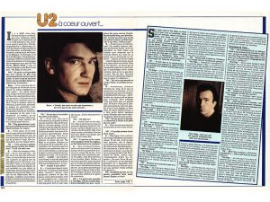 "U2 interviews and on-the-road feature done for Sipa Press during the first dates of their ""Unforgettable Fire"" international tour. The syndicated story and interviews done during 10 days on the road with the band in Australia were published in newspapers and magazines around the world."