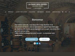 """Création et mise à jour du site """"vitrine"""" de La Cave des Coyes et aide à la création de leur site de vente en ligne, lacavedemaintenon.fr"""
