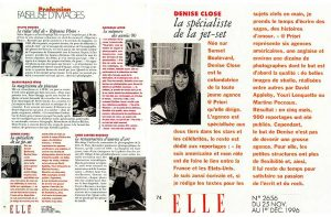 """Elle"" magazine included me in a feature about women in photography during the annual ""month of photography"" in France."