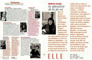 """""""Elle"""" magazine a publié un sujet magazine sur les femmes dans le monde de la photographie pendant le """"mois de la photo"""" en France."""