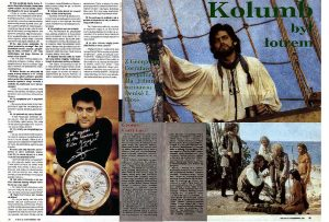 """Georges Corraface interview and feature for """"Christopher Colubus: the Discovery"""", syndicated by Still Press Agency world-wide. This publication is from Poland."""