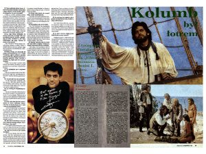 "Georges Corraface interview and feature for ""Christopher Columbus: the Discovery"", syndicated by Still Press Agency world-wide. This publication is from Poland."