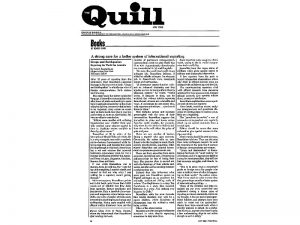 "I interviewed Mort Rosenblum, then ""International Herald Tribune"" editor-in-chief, for a feature about his book ""Coups and Eathquakes"" for The Quill, a professional journalists' magazine."